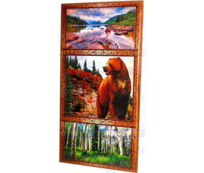 Нарды большие 60х60 'Бурый медведь'.