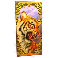 Нарды большие 60х60 'Тигр' 'СЕРИЯ КАРТИНА МАСЛОМ'.