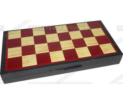 Шахматы 3в1 'Дорожные магнитные' 24,5х24,5см.