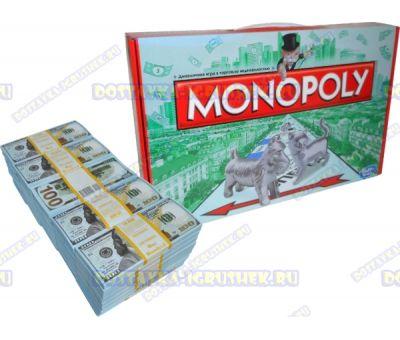 Игра 'Монополия' классика и 50 пачек 100$ банка приколов.