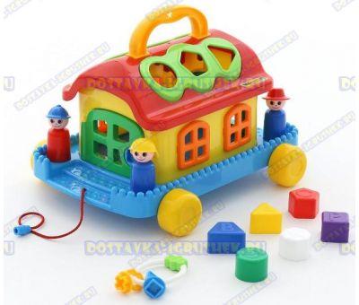 Сказочный домик на колёсиках (в сеточке)