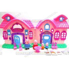 Beautiful Villa Peppa(Домик Пеппы светящийся) +4фигуркии мебель. Батарейки в подарок.