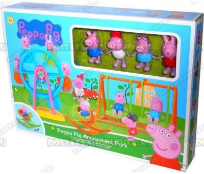 Игровая площадка Свинки Пеппы с Колесом Обозрения +4 фигурки.
