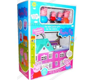 Peppa Pig Pleasure kingdom. Вилла, мебель +4 фигурки.
