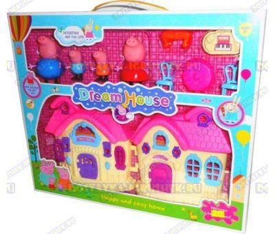 Свинка Пеппа. Дом мечты +4 фигурки и мебель.