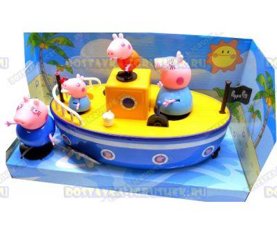 Набор 'Пиратский корабль свинки Пеппы' +4 фигурки.
