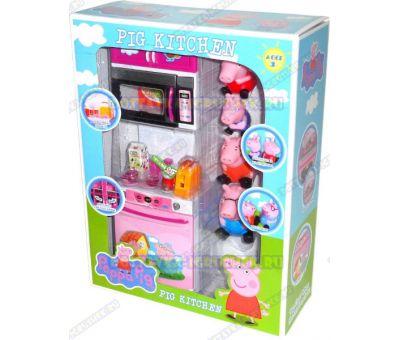 Игровой набор кухня Свинки Пеппы (со звуком и светом). +4 фигурки.