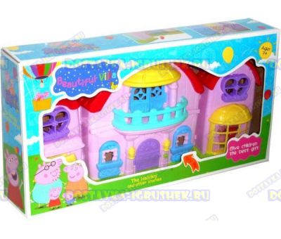 Beautiful Villa Peppa(Вилла Пеппы) +4фигурки- семья свинки Пеппы.