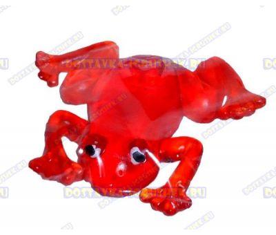 Лизун гелевый большой 'Лягушонок' красный. 10,5см.
