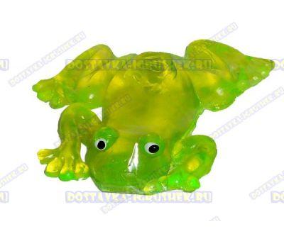 Лизун гелевый большой 'Лягушонок' зелёный. 10,5см.