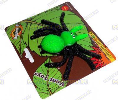 Лизун Vent Toys 'Паук' зелёный, ~9,5см.