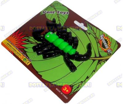 Лизун Vent Toys 'Скорпион' зелёный, ~13см.