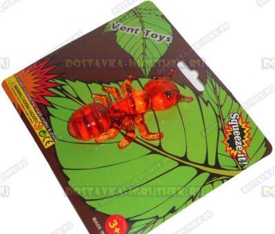 Лизун Vent Toys 'Муравей' оранжевый, гелевый, ~8см.