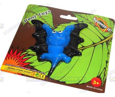 Лизун Vent Toys 'Летучая мышка' синий, ~10см.