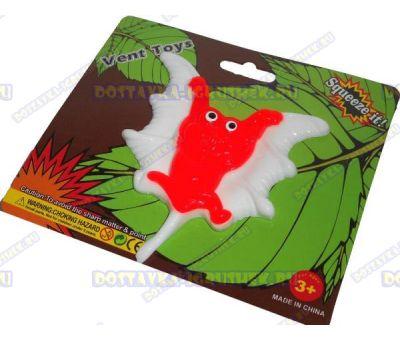 Лизун Vent Toys 'Летучая мышка' бело-красный, ~10см.