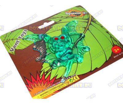 Лизун Vent Toys 'Летучая мышка' зелёный, гелевый, ~10см.