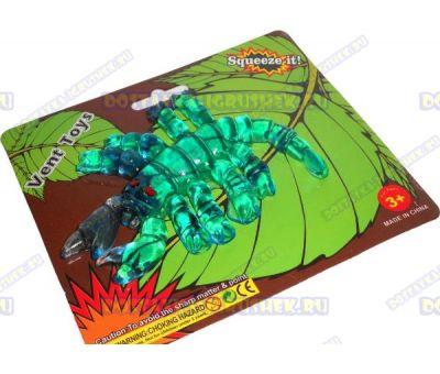 Лизун Vent Toys 'Скорпион' зелёный, гелевый, ~13см.