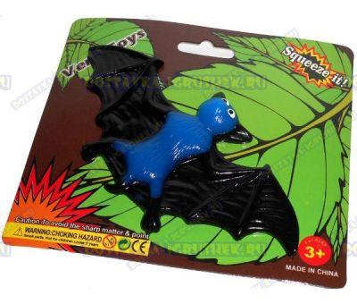 Лизун Vent Toys 'Летучая мышка' синий, ~13,5см.