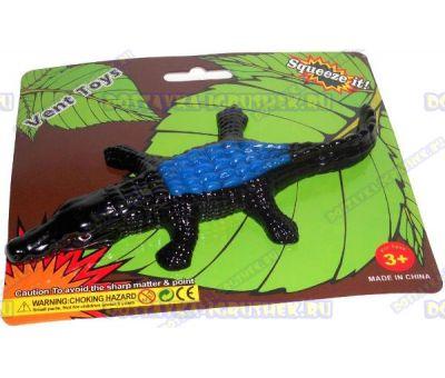 Лизун Vent Toys 'Крокодил' черно-синий, ~16см.