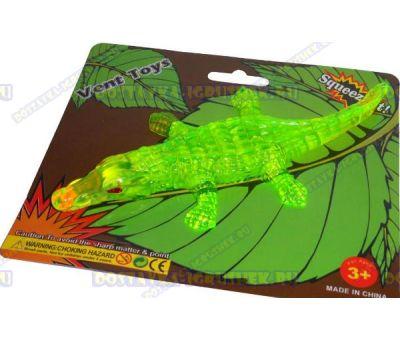 Лизун Vent Toys 'Крокодил' зелёный, гелевый, ~16см.