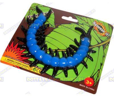 Лизун Vent Toys 'Многоножка' синий, ~15,5см.