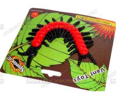 Лизун Vent Toys 'Многоножка' красный, ~15,5см.