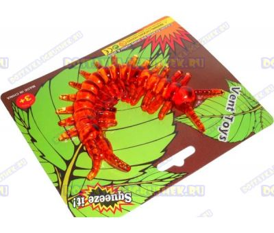 Лизун Vent Toys 'Многоножка' оранжевый, гелевый ~15,5см.