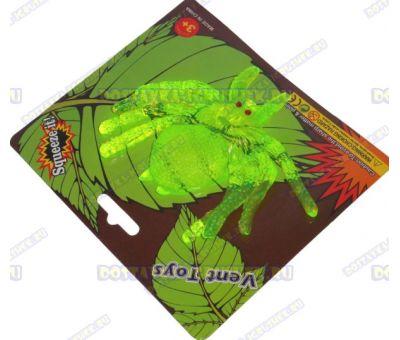Лизун Vent Toys 'Паук' зелёный, гелевый ~9,5см.