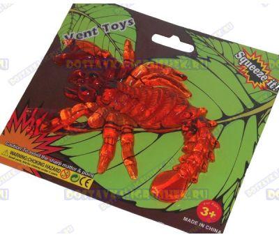 Лизун Vent Toys 'Скорпион' красный, гелевый ~15,5см.