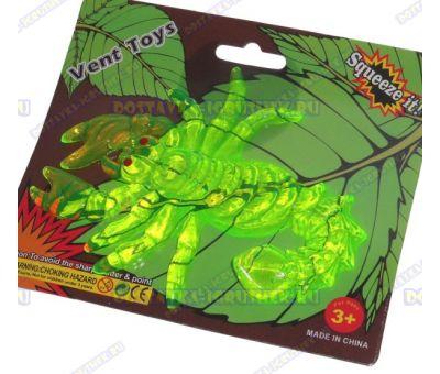 Лизун Vent Toys 'Скорпион' зелёный, гелевый ~15,5см.