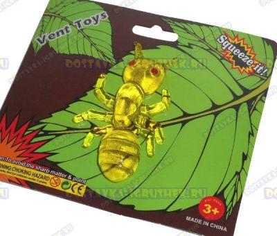 Лизун Vent Toys 'Муравей' желт.,гелевый. ~8см.