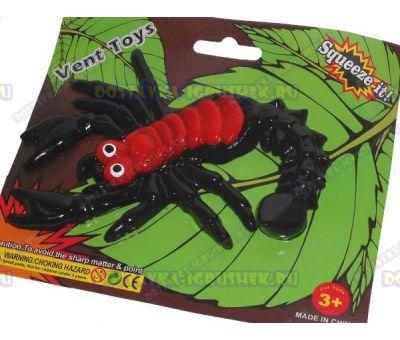 Лизун Vent Toys 'Скорпион' красно-черный. ~15,5см.