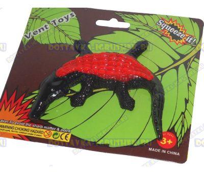 Лизун Vent Toys 'Крокодил' черно-красный, ~16см.