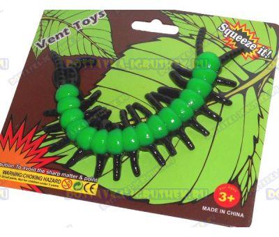 Лизун Vent Toys 'Многоножка' черно-зеленый, ~15,5см.
