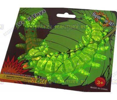 Лизун Vent Toys 'Многоножка' зеленый, гелевый ~15,5см.