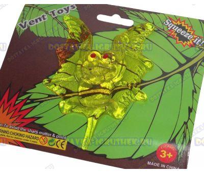 Лизун Vent Toys 'Летучая мышка' светло-зелёный, гелевый, ~10см.