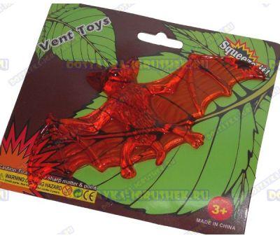 Лизун Vent Toys 'Летучая мышка' красный, гелевый, ~13,5см.