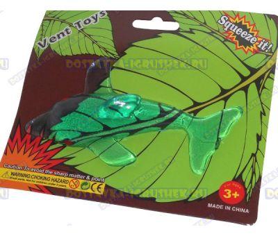 Лизун Vent Toys 'Дельфин' зеленый, гелевый ~12,5см.