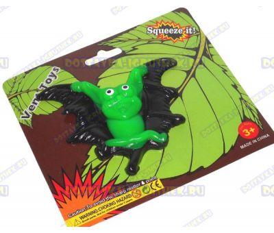 Лизун Vent Toys 'Летучая мышка' черно-зеленый, ~10см.