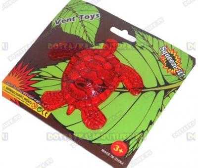 Лизун Vent Toys 'Черепаха' красный, гелевый, ~12см.