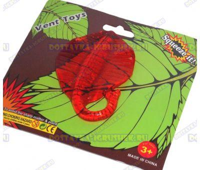 Лизун Vent Toys 'Скат' красный, гелевый, ~12см.