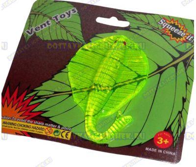 Лизун Vent Toys 'Скат' зеленый, гелевый, ~12см.