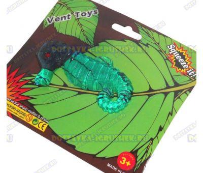 Лизун Vent Toys 'Морской конек' темно-зеленый, ~10см.