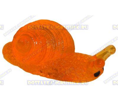 Лизун гелевый 'Улитка' оранжевый. ~7,5см.