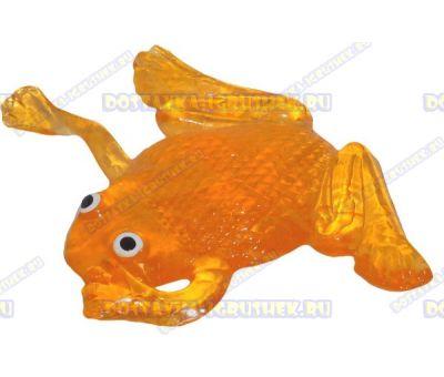 Лизун гелевый большой 'Лягушонок' оранжевый. ~10,5см.