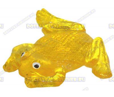 Лизун гелевый большой 'Лягушонок' желтый. ~10,5см.