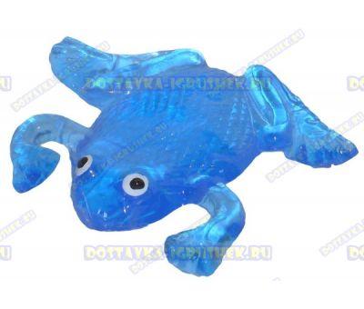 Лизун гелевый большой 'Лягушонок' синий. ~10,5см.