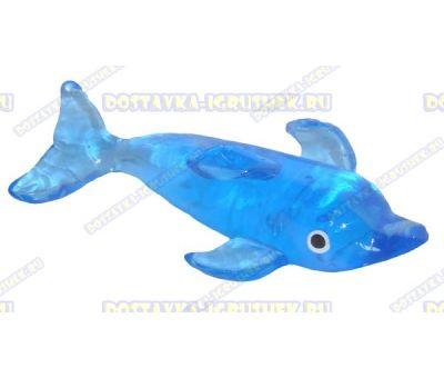 Лизун гелевый большой 'Дельфин' синий. ~14см.