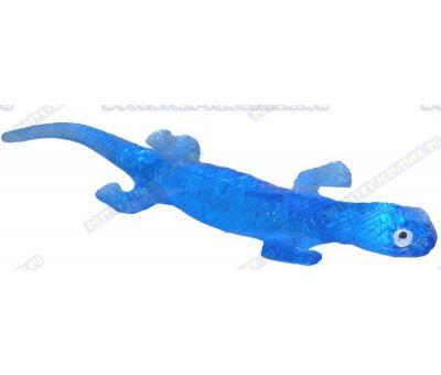 Лизун гелевый большой 'Ящерица' синий. ~20см.