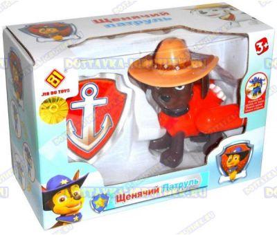 Щенячий патруль' Зума в шляпе +значок. 8-10см. Новая серия. (пластик).